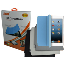 KIT COVER POSTERIORE TRASPARENTE + COVER FRONTALE COLORATA PER IPAD AIR