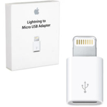 ADATTATORE ORIGINALE APPLE DA LIGHTNING A MICRO USB MD820ZM/A BIANCO BLISTER